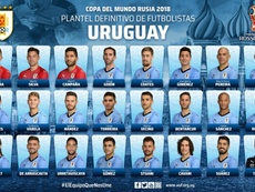 Tabarez sprang a few surprises when naming his final squad. Twitter/Uruguay