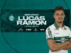 Coritiba anuncia a chegada do lateral Lucas Ramon. Site oficial Coritiba