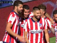 Correa anotó el segundo del Atlético en una obra de arte. Captura/Voetbal