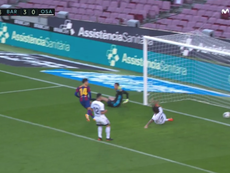 Coutinho marcó a pase de Griezmann. Captura/Movistar+LaLiga