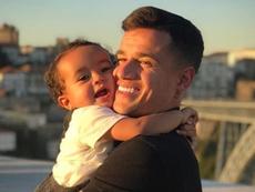 La mujer de Coutinho subió una tierna imagen. Instagram/ainee.c
