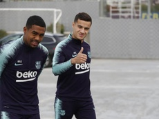 Coutinho has returned to full training after a minor muscle injury. TWITTER/BARCELONAES