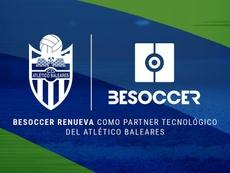 BeSoccer y Atlético Baleares renuevan su confianza. BeSoccer
