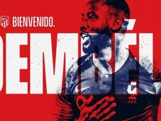 Dembélé all'Atletico Madrid. Twitter/Atletico