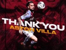 Jota Peleteiro announces Aston Villa exit. Twitter/KingJota
