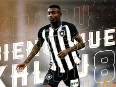 Salomon Kalou ficha por el Botafogo. Twitter/Botafogo