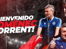 Torrent es el nuevo entrenador de Flamengo. Twitter/Flamengo_es