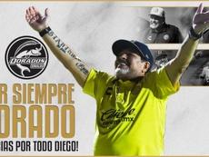 OFICIAL: Maradona deja de ser entrenador de Dorados. Dorados