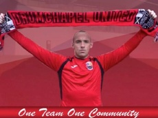Darian Mackinnon assinou com o Drumchapel United. Twitter/DrumchapelU