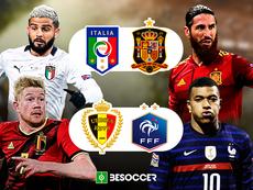 Bélgica, Espanha, França e Itália esperam até outubro para disputar a Liga das Nações. BeSoccer
