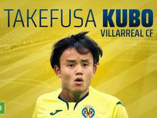 Empréstimo de Kubo ao Villarreal foi anunciado nesta segunda-feira. BeSoccer