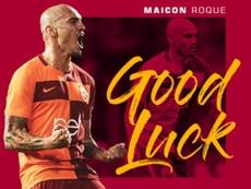 El Galatasaray confirmó la compra de Maicon por el Al Nassr. Twitter/GalatasaraySK