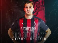 El Milan incorpora a Dalot como cedido. Twitter/acmilan