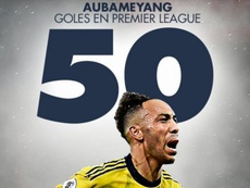 Aubameyang llegó a los 50 goles en el Arsenal. BeSoccer