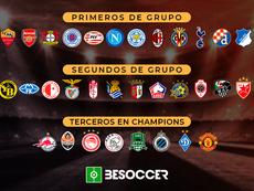 Estos son los 32 clasificados para 1/16 de final de la Europa League. BeSoccer
