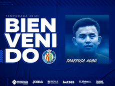 Kubo leaves Villarreal and goes on loan to Getafe. Twitter/GetafeCF