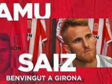 Samu Sáiz, nuevo jugador del Girona. GironaFC