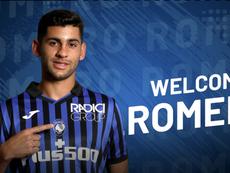 Atalanta e Juventus anunciaram o empréstimo de Cristian Romero. Captura/Atalanta_BC