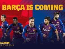 Tournée en Chine. Twitter/FCBarcelona_es