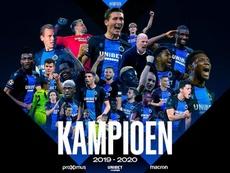 El Brujas, oficialmente campeón de la Liga Belga. Twitter/ClubBrugge