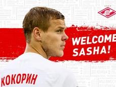 Kokorin se marcha al Spartak de Moscú. Twitter/fcsm_eng
