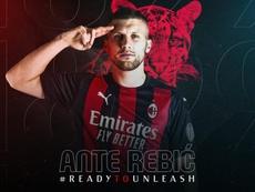 Ante Rebic foi comprado pelo Milan após experiência de empréstimo. Twitter/ACMilan