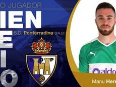 El Madrid cede a Manu Hernando a la Ponferradina. SDPonferradina