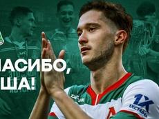 Miranchuk deja el Lokomotiv. Twitter/fclokomotiv