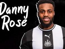Danny Rose é emprestado ao Newcastle. Captura/NUFC
