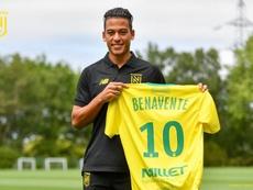 Cristian Benavente se une al Nantes. Twitter/Nantes