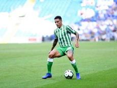 Cristian Tello scored as Betis overcame Cardiff. Twitter/RealBetis