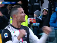 Cristiano não perde o seu encontro com o gol. Captura/#Vamos