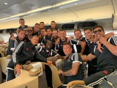 Ronaldo with the Juve squad. Twitter/Cristiano