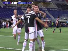 Ronaldo scored a penalty. Screenshot/Movistar/LigadeCampeones