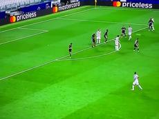 El mejor gol de la Champions 19-20 lo marcó... ¡Cristiano Ronaldo! Captura/Movistar+