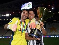 Cristiano y Buffon levantaron la Serie A este fin de semana. Instagram/cristiano