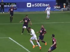 There was no stopping Ronaldo's powerful header. RMCFHQTV