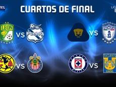 Estos son los cuartos de final del Apertura Mexicano. Twitter/LigaBBVAMX