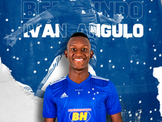 Cruzeiro anuncia a chegada, por empréstimo, do atacante Iván Angulo. Twitter/Cruzeiro