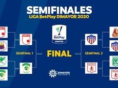 Estas son las semifinales del Apertura Colombiano. Twitter/DiMayor