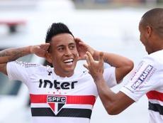 Cueva diz querer voltar ao São Paulo. Twitter/SãoPaulo