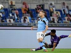 Gran remontada de la Lazio para seguir soñando con ser campeón. Twitter/OfficialSSLazio