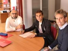 Albiar no esperaba debutar con el Almería este curso. Twitter/UDAlmería