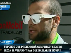 Alves no ve a Neymar en el Madrid. ElChiringuito/MEGA