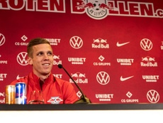 El proyecto deportivo del RB Leizpig convenció a Dani Olmo. Twitter/DieRotenBullen