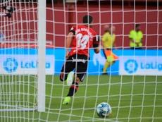 Dani Rodríguez anotó el primer gol del Mallorca en Primera. Twitter/RCD_Mallorca