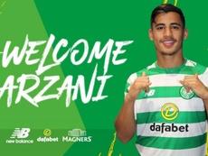 Arzani jugará dos temporadas cedido en el Celtic, tras firmar por el Manchester City. Twitter/Celtic
