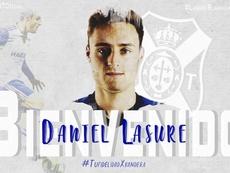 Lasure jugará en el Tenerife hasta final de curso. Twitter/CDTOficial