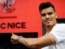 Danilo é o novo jogador do Nice. Twitter/Nice