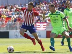 Darío Poveda abrió el marcador ante el Getafe B. Twitter/AtletiAcademia